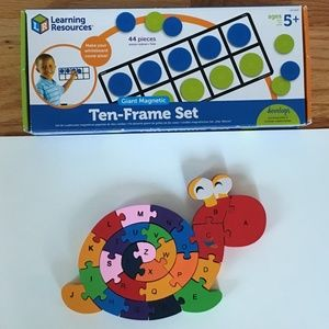 Learning Resources Magnetic Ten-Frame WITH Puzzle